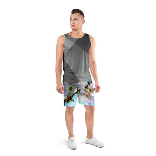 Мужские шорты 3D спортивные  Фото 04, Ветка вишни