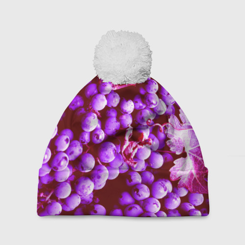 Шапка 3D c помпоном  Фото 01, Виноград
