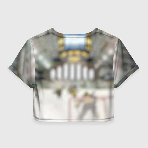 Женская футболка 3D укороченная  Фото 02, Anaheim ducks