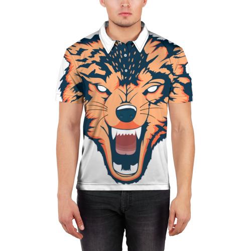 Мужская рубашка поло 3D  Фото 03, Red wolf