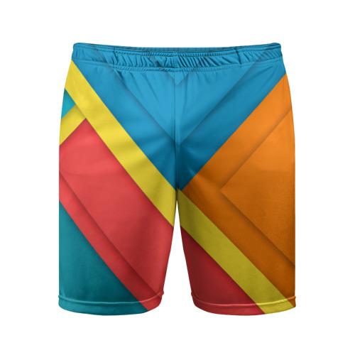 Мужские шорты 3D спортивные  Фото 01, Линии