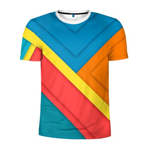 Мужская футболка 3D спортивная  Фото 01, Линии