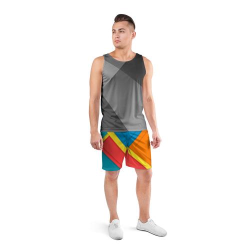 Мужские шорты 3D спортивные  Фото 04, Линии