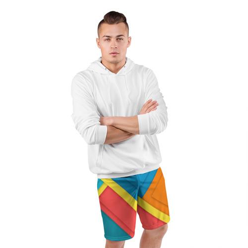 Мужские шорты 3D спортивные  Фото 05, Линии