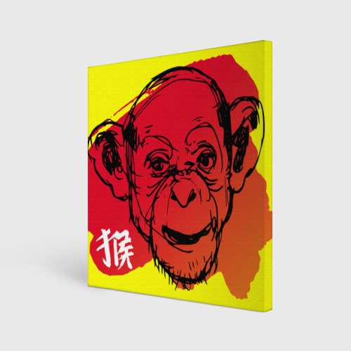 Холст квадратный  Фото 01, Fire Monkey