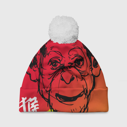 Шапка 3D c помпоном  Фото 01, Fire Monkey