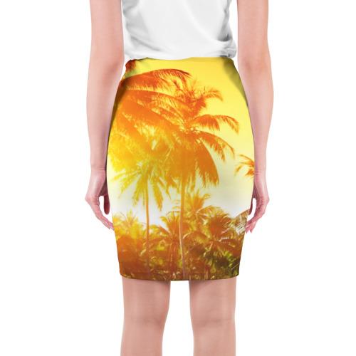 Юбка 3D  Фото 02, Пальмы