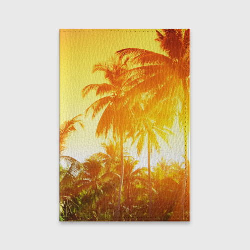 Обложка для паспорта матовая кожа Пальмы Фото 01