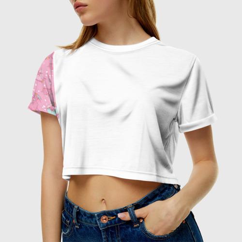 Женская футболка Cropp-top Единорожки с мороженкой Фото 01