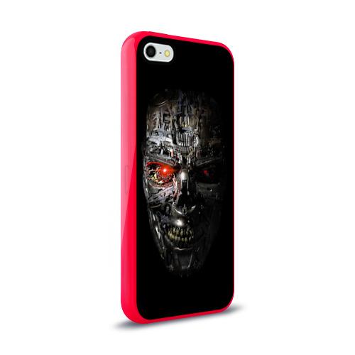 Чехол для Apple iPhone 5/5S силиконовый глянцевый  Фото 02, Терминатор (оружие)