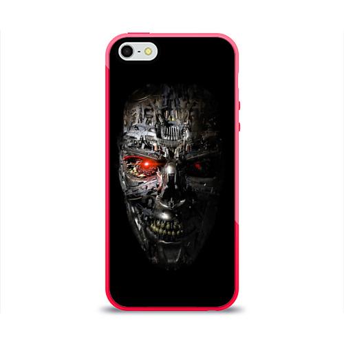 Чехол для Apple iPhone 5/5S силиконовый глянцевый  Фото 01, Терминатор (оружие)