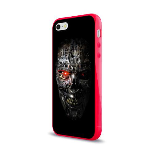 Чехол для Apple iPhone 5/5S силиконовый глянцевый  Фото 03, Терминатор (оружие)