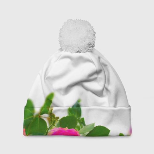 Шапка 3D c помпоном  Фото 01, Цветок