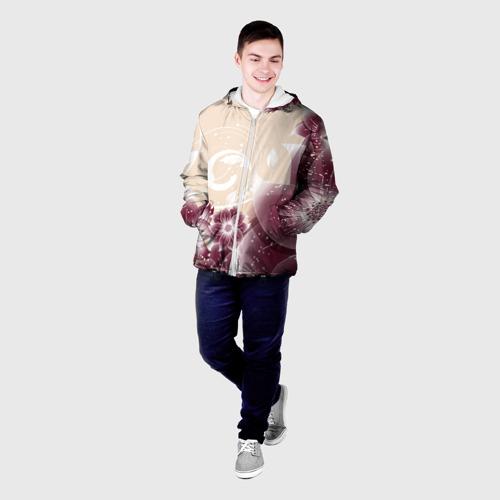 Мужская куртка 3D  Фото 03, flowers