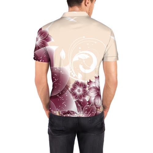 Мужская рубашка поло 3D  Фото 04, flowers