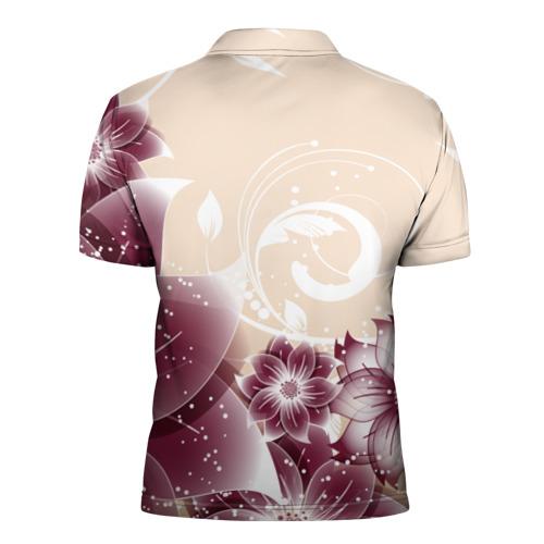 Мужская рубашка поло 3D  Фото 02, flowers