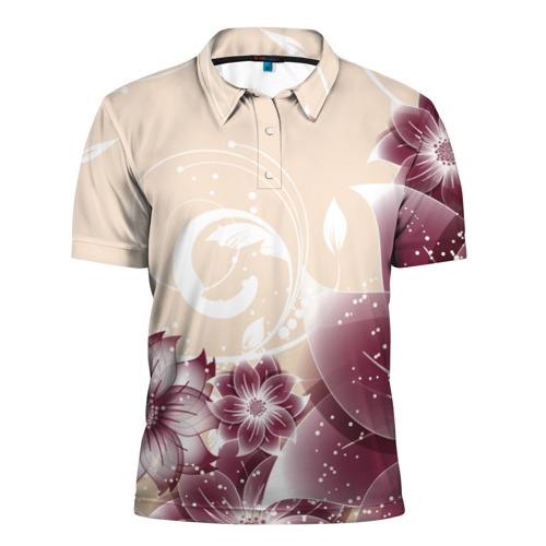 Мужская рубашка поло 3D  Фото 01, flowers