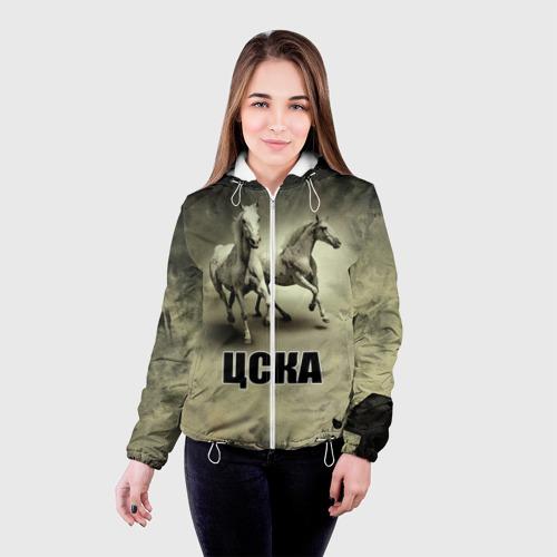Женская куртка 3D  Фото 03, ЦСКА