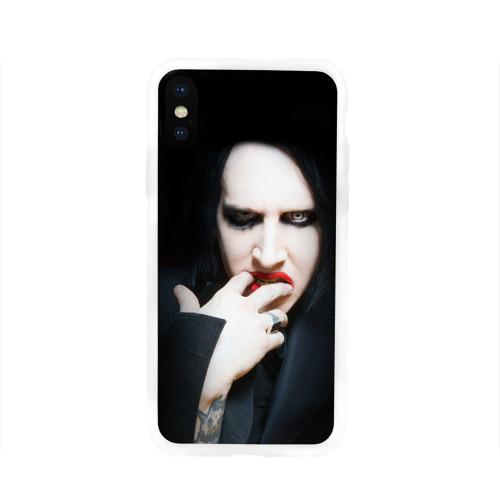 Чехол для Apple iPhone X силиконовый глянцевый  Фото 01, Marilyn Manson