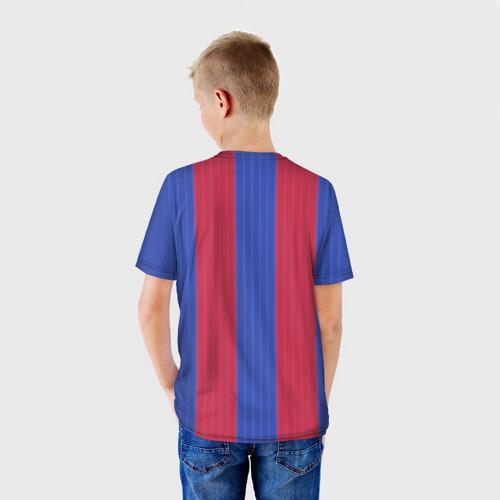Детская футболка 3D  Фото 02, Барселона форма