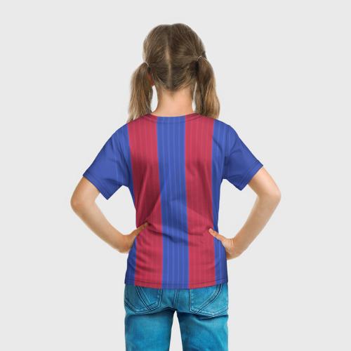 Детская футболка 3D  Фото 04, Барселона форма