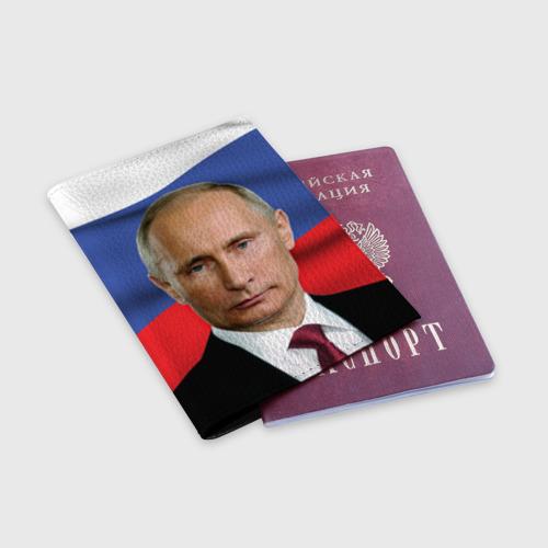 Обложка для паспорта матовая кожа  Фото 03, Путин Владимир Владимирович