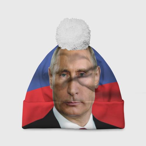 Шапка 3D c помпоном  Фото 01, Путин Владимир Владимирович