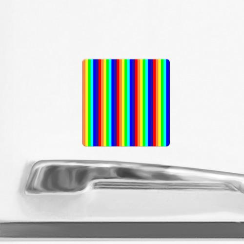 Магнит виниловый Квадрат Радуга вертикальные полосы Фото 01