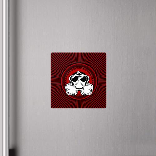 Магнит виниловый Квадрат  Фото 04, Vape Monkey