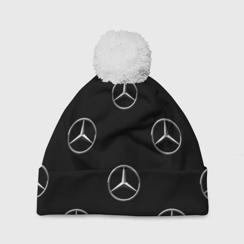 Шапка 3D c помпоном  Фото 01, Mercedes