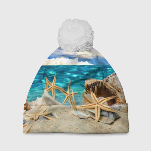 Шапка 3D c помпоном  Фото 01, Морской пляж 4