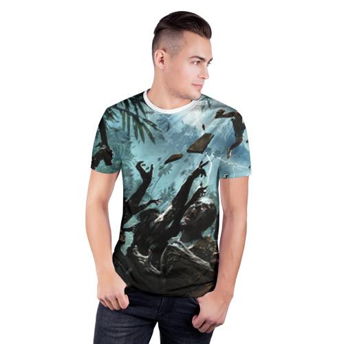 Мужская футболка 3D спортивная  Фото 03, Зомби апокалипсис