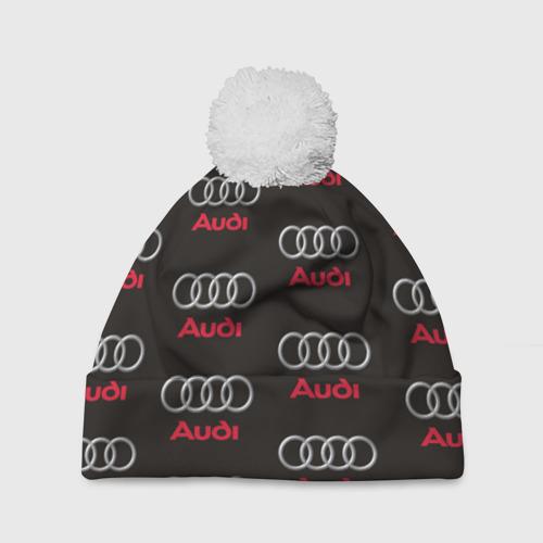 Шапка 3D c помпоном  Фото 01, Audi