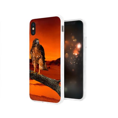 Чехол для Apple iPhone X силиконовый глянцевый  Фото 03, Орел