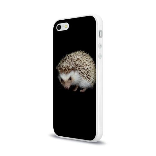 Чехол для Apple iPhone 5/5S силиконовый глянцевый  Фото 03, Ежик 2
