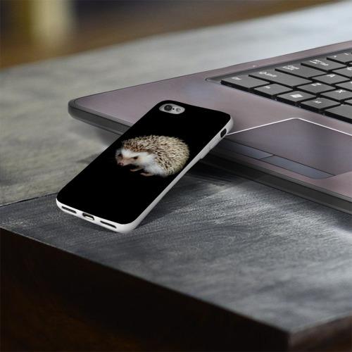 Чехол для Apple iPhone 8 силиконовый глянцевый  Фото 03, Ежик 2