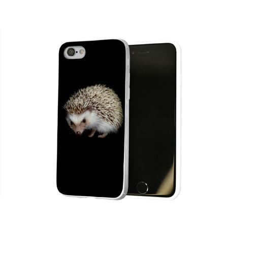Чехол для Apple iPhone 8 силиконовый глянцевый  Фото 02, Ежик 2