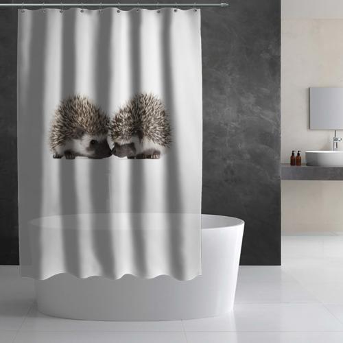Штора 3D для ванной  Фото 02, Ежик 3