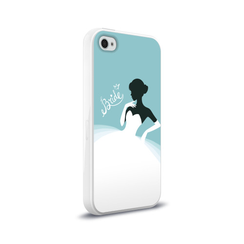 Чехол для Apple iPhone 4/4S силиконовый глянцевый  Фото 02, Bride 1