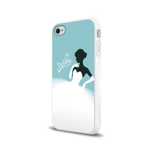 Чехол для Apple iPhone 4/4S силиконовый глянцевый  Фото 03, Bride 1