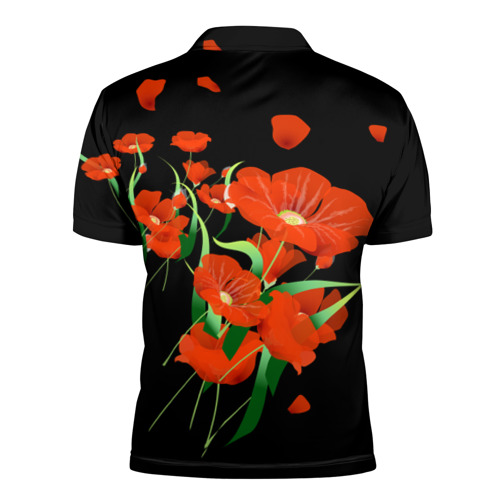 Мужская рубашка поло 3D  Фото 02, Маки