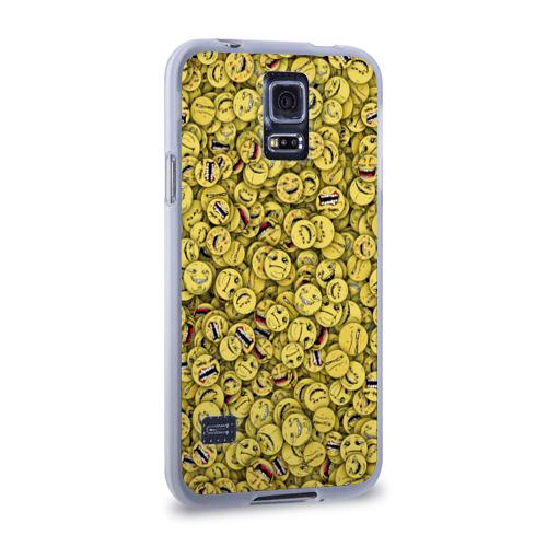 Чехол для Samsung Galaxy S5 силиконовый  Фото 02, Злобные смайлы