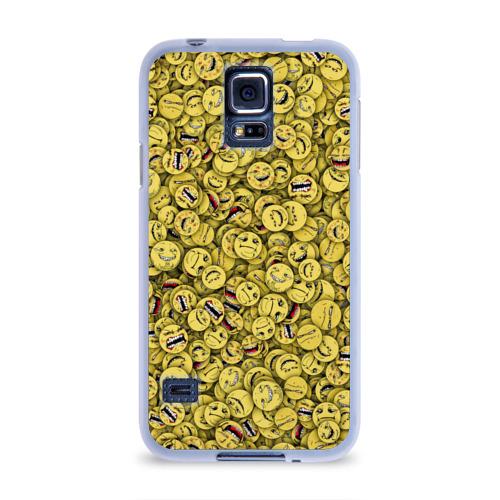 Чехол для Samsung Galaxy S5 силиконовый  Фото 01, Злобные смайлы