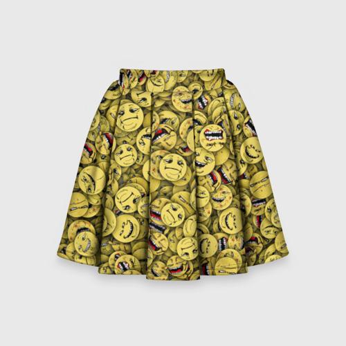 Детская юбка-солнце 3D Злобные смайлы