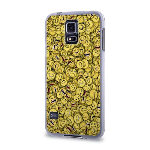 Чехол для Samsung Galaxy S5 силиконовый  Фото 03, Злобные смайлы
