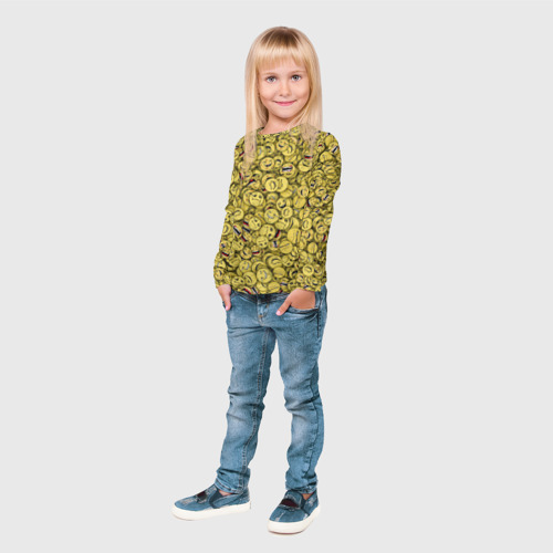 Детский лонгслив 3D  Фото 04, Злобные смайлы