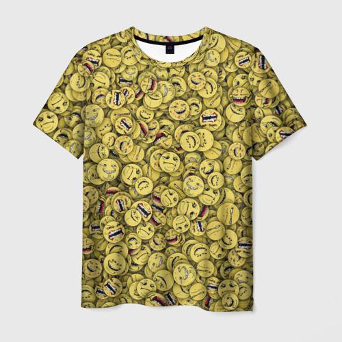 Мужская футболка 3D Злобные смайлы