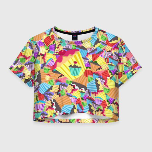 Женская футболка Cropp-top Кексики
