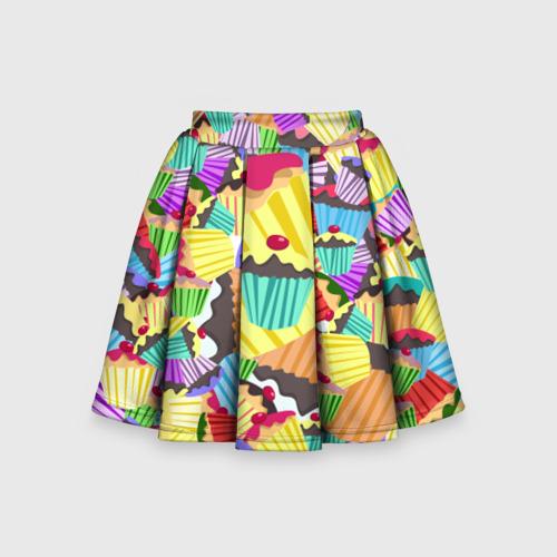 Детская юбка-солнце 3D Кексики