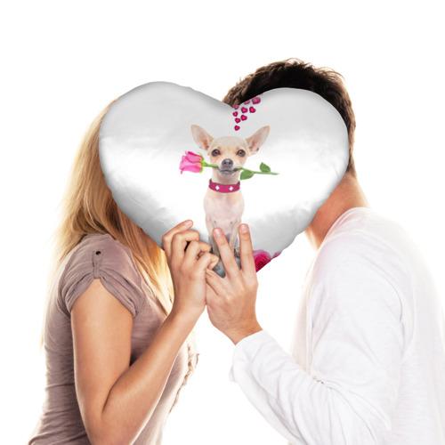 Подушка 3D сердце  Фото 03, С Любовью